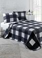 Eponj Home Çift Kişilik Yatak Örtüsü Siyah